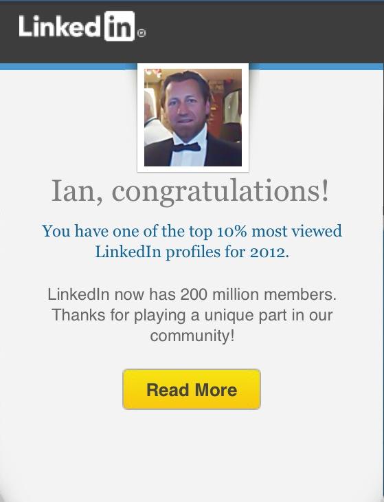LinkedIn profile_LinkedIn social network_Top 10 percent viewed profile